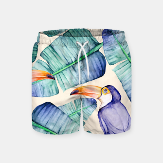 Thumbnail image of Fancy Tropical Pattern Badeshorts, Live Heroes