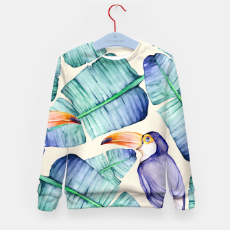 Thumbnail image of Fancy Tropical Pattern Kindersweatshirt, Live Heroes