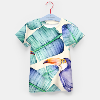 Thumbnail image of Fancy Tropical Pattern T-Shirt für kinder, Live Heroes
