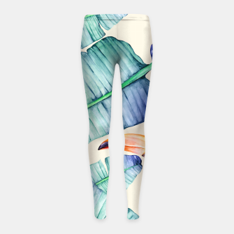 Thumbnail image of Fancy Tropical Pattern Kinder-Leggins, Live Heroes