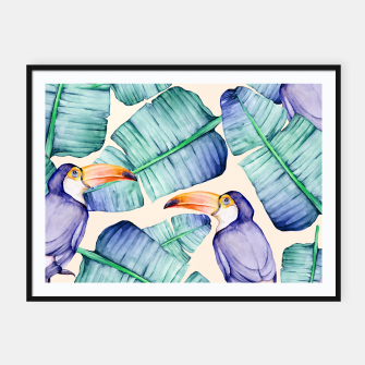 Thumbnail image of Fancy Tropical Pattern Plakat mit rahmen, Live Heroes