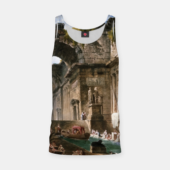 Thumbnail image of Ruins Of A Roman Bath With Washerwomen by Hubert Robert Tank Top, Live Heroes