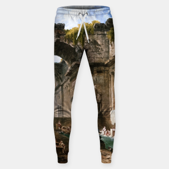 Thumbnail image of Ruins Of A Roman Bath With Washerwomen by Hubert Robert Sweatpants, Live Heroes