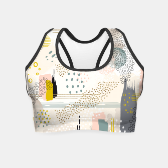 Miniature de image de Abstract city Crop Top, Live Heroes