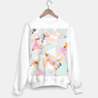 Miniature de image de Abstract geometric textures and marble Sudadera regular, Live Heroes
