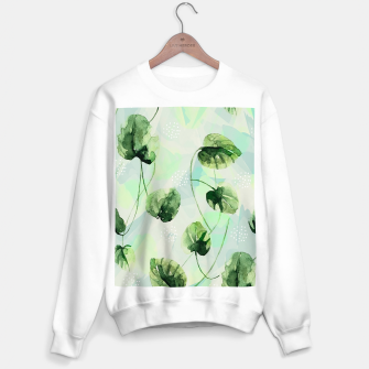 Miniature de image de Watercolor leaves Sudadera regular, Live Heroes