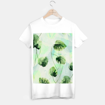 Miniature de image de Watercolor leaves Camiseta Regular, Live Heroes