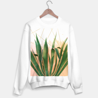 Miniature de image de Cactus with geometric Sudadera regular, Live Heroes