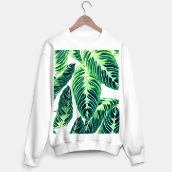 Thumbnail image of Seamless tropical leaf pattern Sudadera regular, Live Heroes