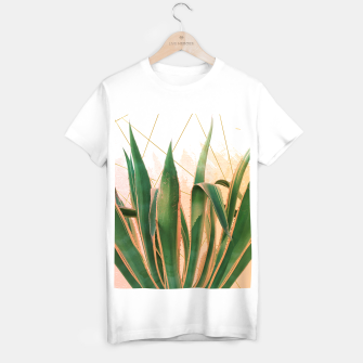 Miniature de image de Cactus with geometric Camiseta Regular, Live Heroes