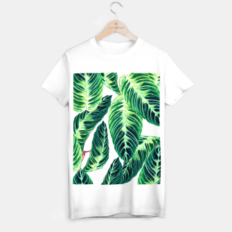 Thumbnail image of Seamless tropical leaf pattern Camiseta Regular, Live Heroes