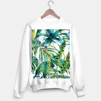 Miniature de image de Nature leaves exotic watercolor I Sudadera regular, Live Heroes