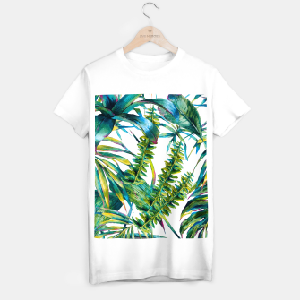 Miniature de image de Nature leaves exotic watercolor I Camiseta Regular, Live Heroes