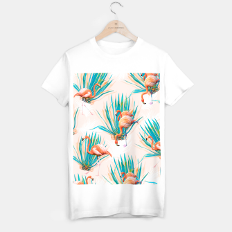 Thumbnail image of Anaglyph Flamingos with cactus Camiseta Regular, Live Heroes