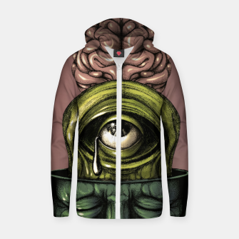 Thumbnail image of Where is my mind Color Zip up hoodie, Live Heroes