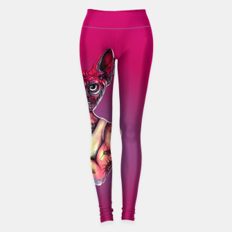 Thumbnail image of Sphynx Tattoed Cat Pink Leggings, Live Heroes