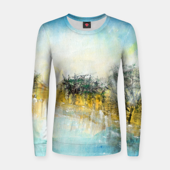 Thumbnail image of At the lake 600dpi Abstract art Women sweater, Live Heroes