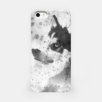 Thumbnail image of Husky Watercolor Portrait iPhone-Hülle, Live Heroes