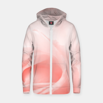 Thumbnail image of Coral Rose Close-up Zip up hoodie, Live Heroes