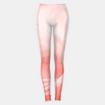Thumbnail image of Coral Rose Close-up Leggings, Live Heroes