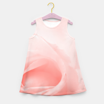Thumbnail image of Coral Rose Close-up Girl's summer dress, Live Heroes