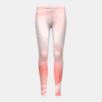 Thumbnail image of Coral Rose Close-up Girl's leggings, Live Heroes