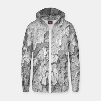 Nature Texture Print Zip up hoodie thumbnail image