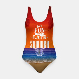 Let's Fun in the Late Summer Sun  Swimsuit obraz miniatury