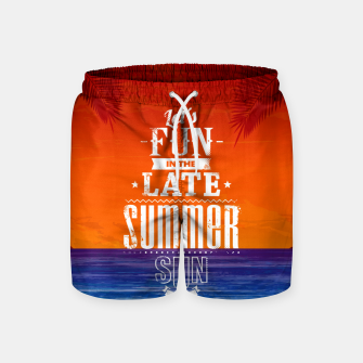 Thumbnail image of Let's Fun in the Late Summer Sun  Swim Shorts, Live Heroes