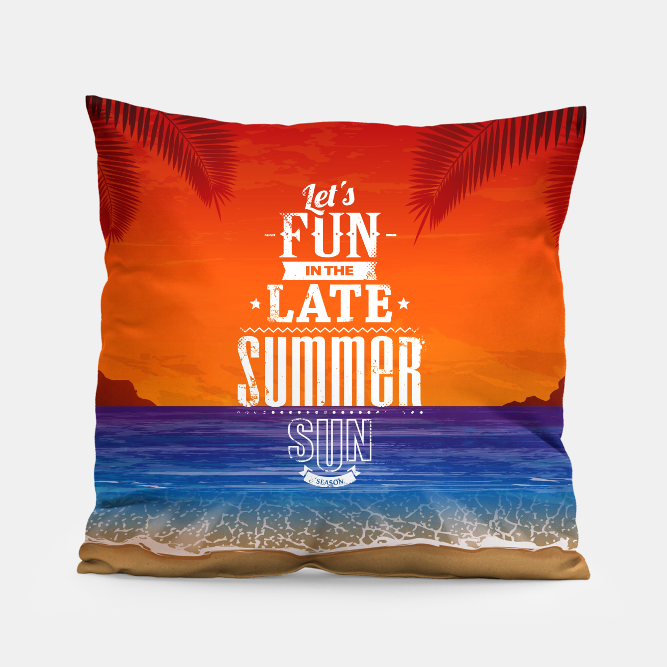 Zdjęcie Let's Fun in the Late Summer Sun  Pillow - Live Heroes