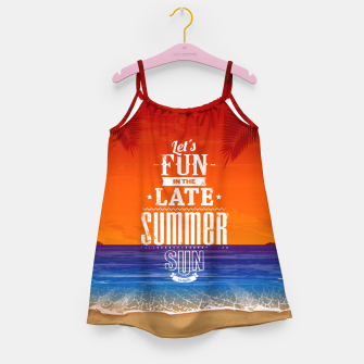 Thumbnail image of Let's Fun in the Late Summer Sun  Girl's dress, Live Heroes