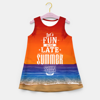 Thumbnail image of Let's Fun in the Late Summer Sun  Girl's summer dress, Live Heroes