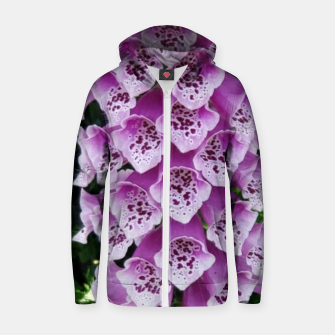 Thumbnail image of Lavender Flower Zip up hoodie, Live Heroes