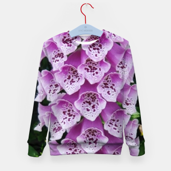 Thumbnail image of Lavender Flower Kid's sweater, Live Heroes