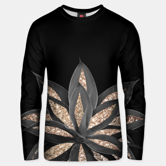 Miniaturka Gray Black Agave with Gold Glitter #1 #shiny #tropical #decor #art  Unisex sweatshirt, Live Heroes