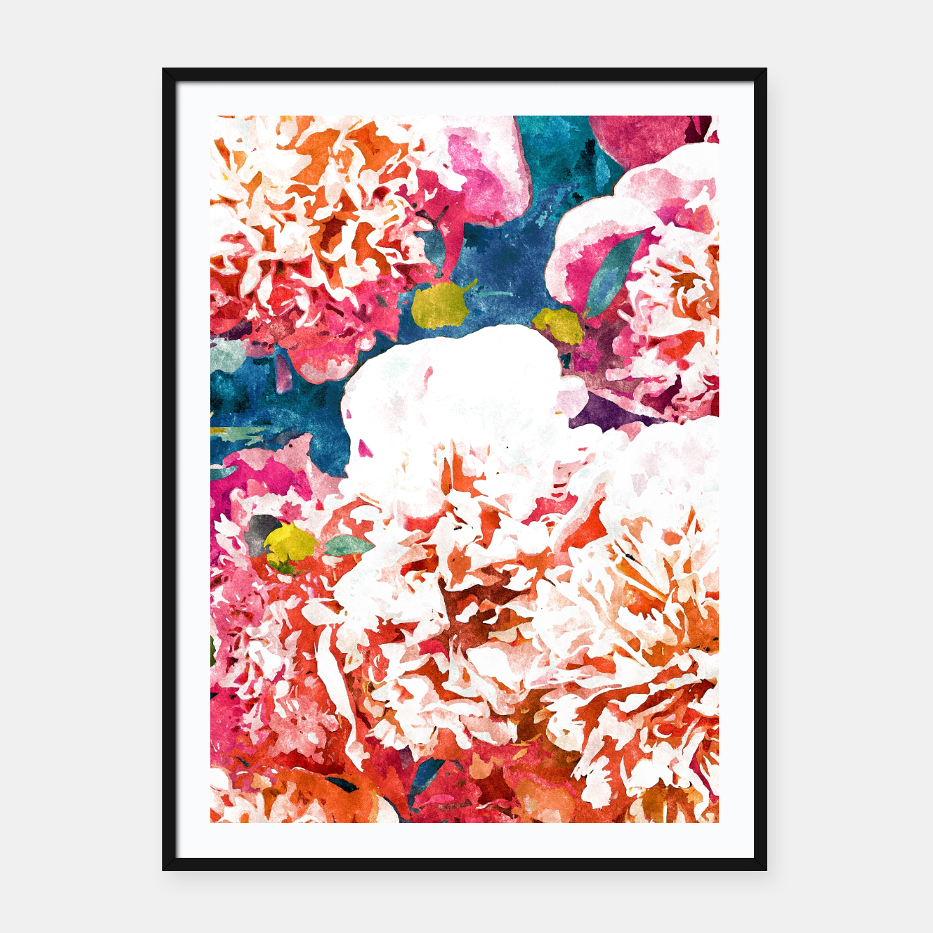 Image of Blossoming Love Framed poster - Live Heroes