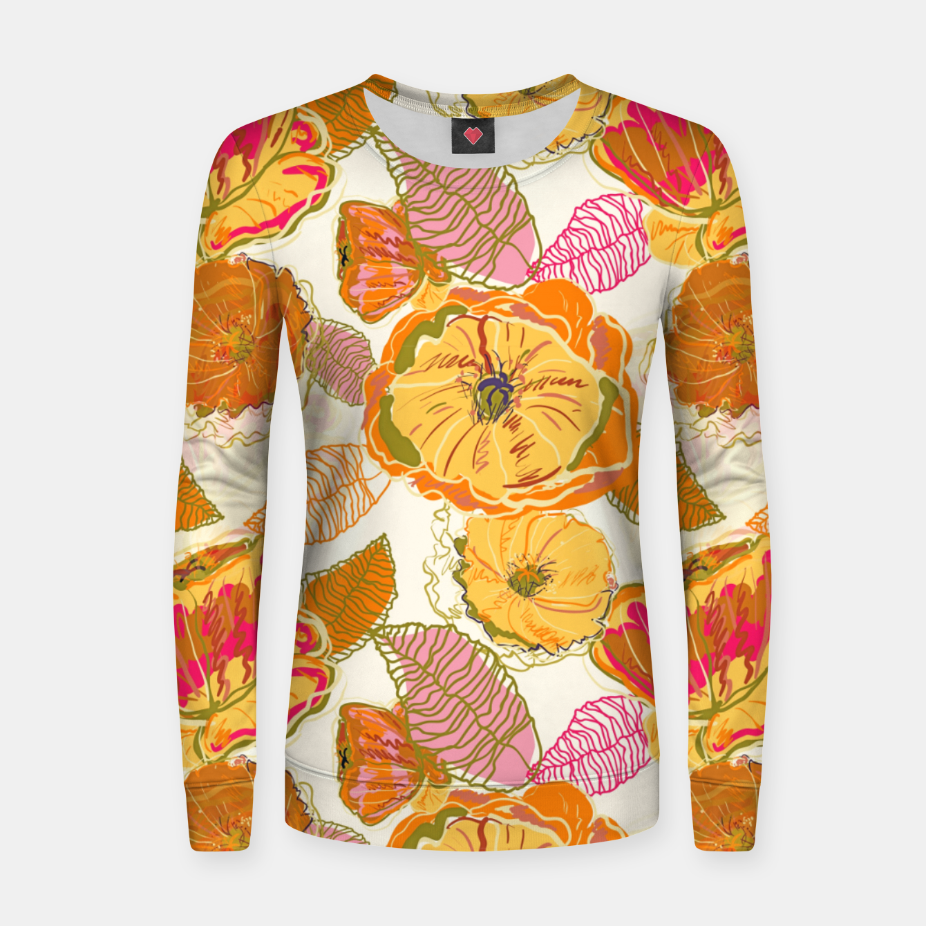Image of Fall Floral Women sweater - Live Heroes