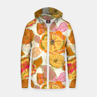 Fall Floral Zip up hoodie thumbnail image