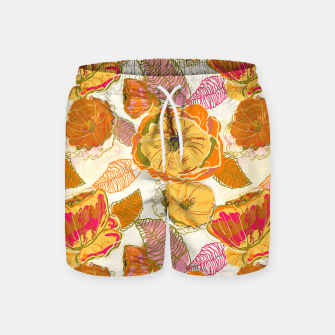 Thumbnail image of Fall Floral Swim Shorts, Live Heroes