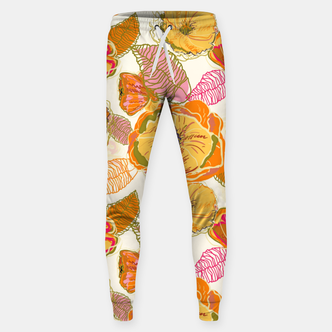 Image of Fall Floral Sweatpants - Live Heroes