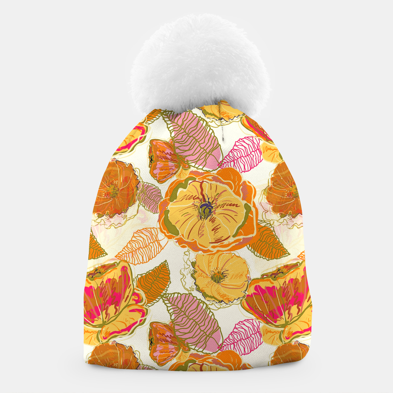 Image of Fall Floral Beanie - Live Heroes