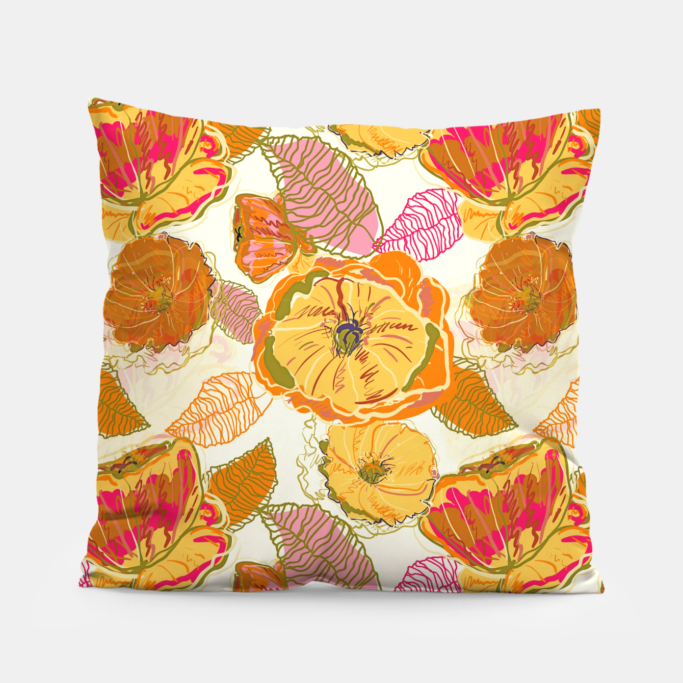 Image of Fall Floral Pillow - Live Heroes