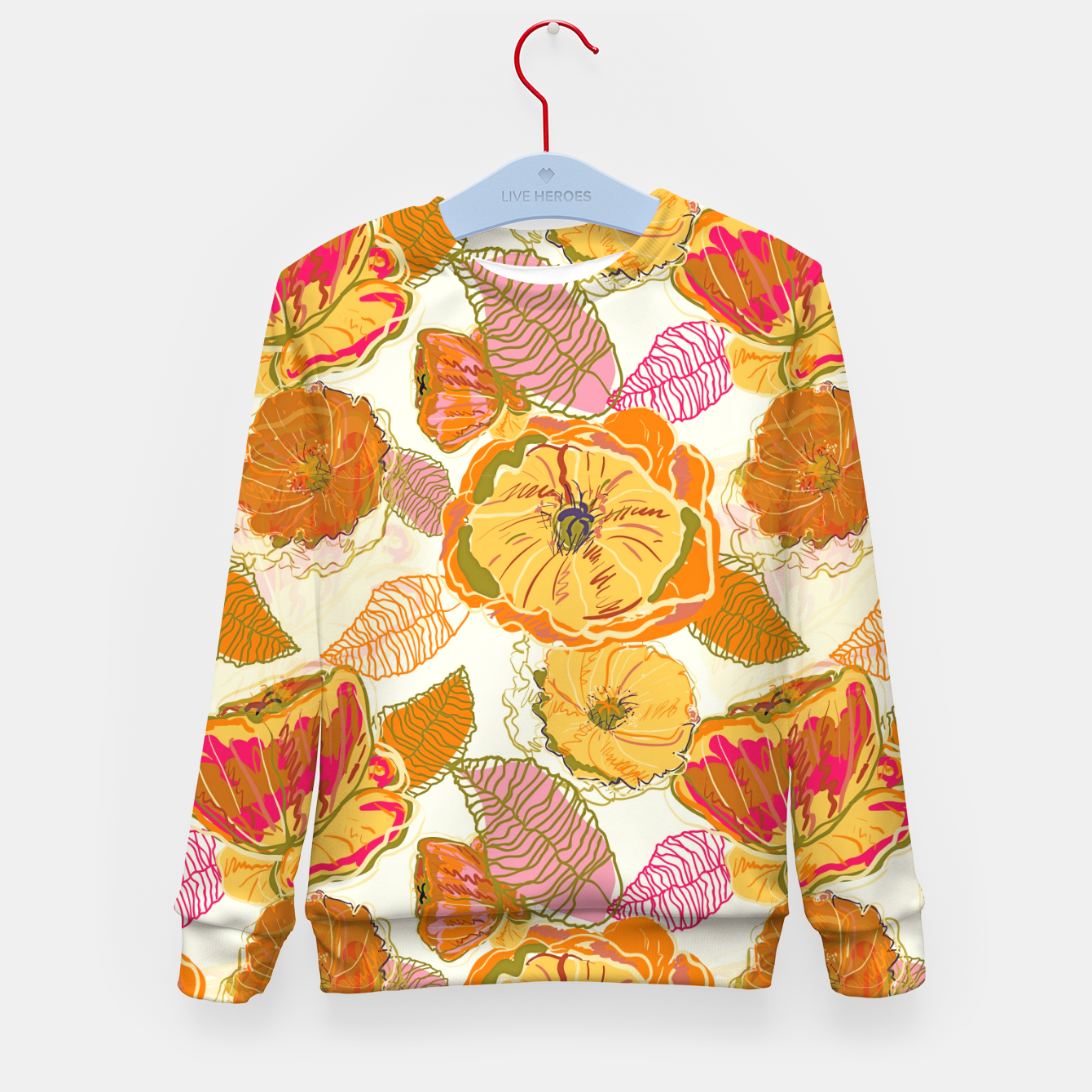Image of Fall Floral Kid's sweater - Live Heroes