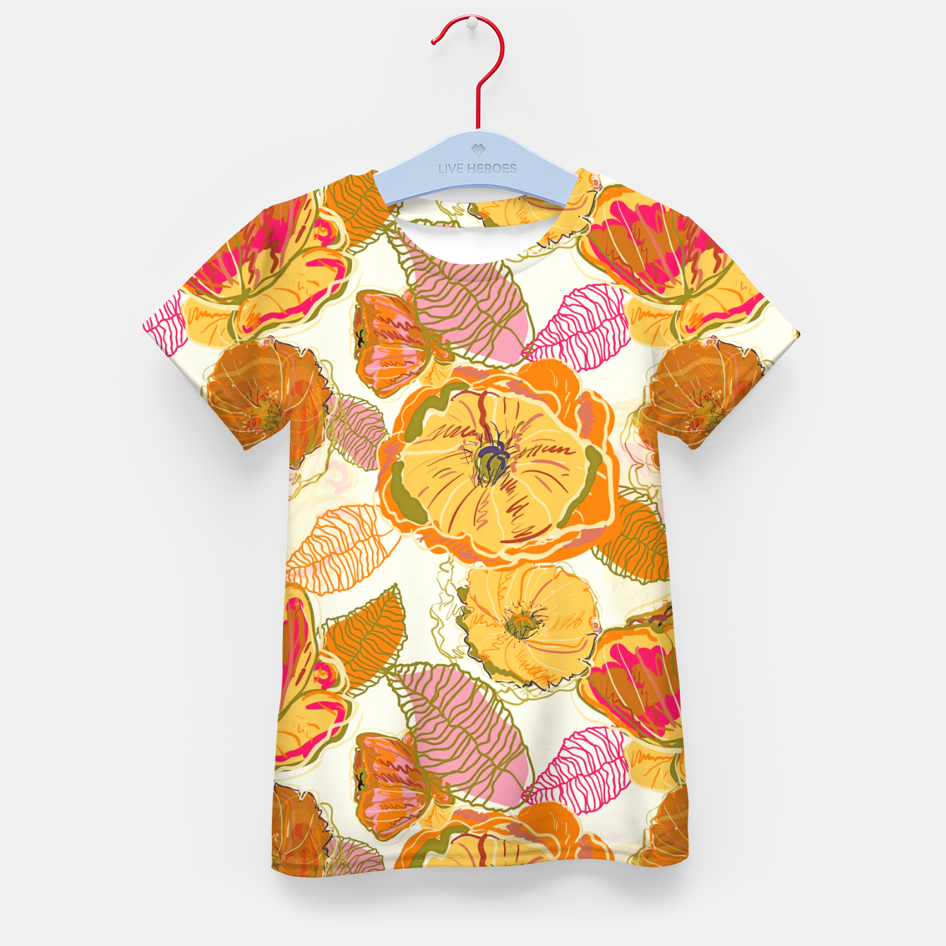 Image of Fall Floral Kid's t-shirt - Live Heroes