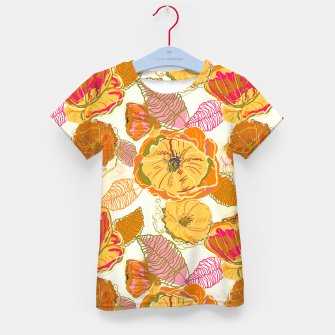Thumbnail image of Fall Floral Kid's t-shirt, Live Heroes