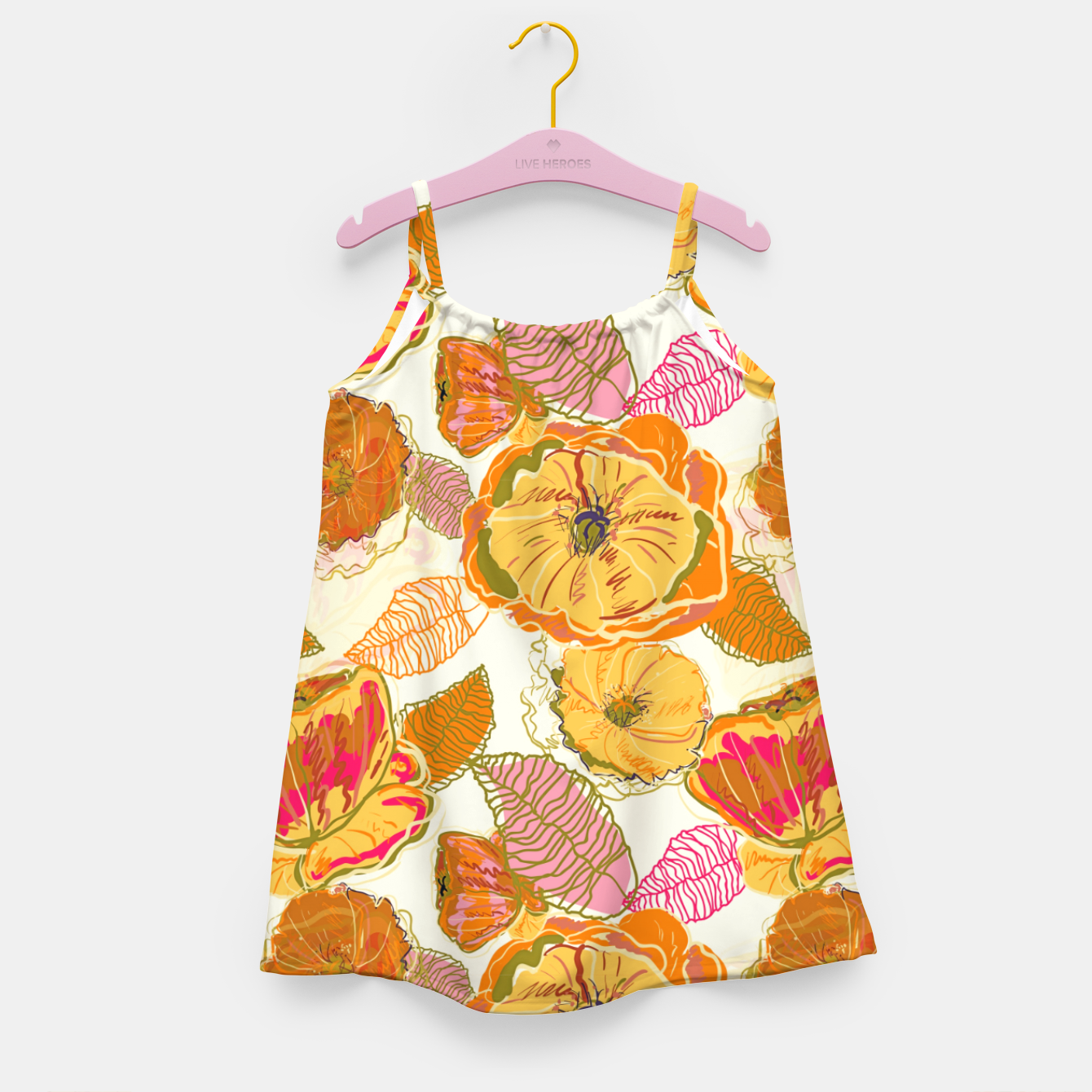 Image of Fall Floral Girl's dress - Live Heroes