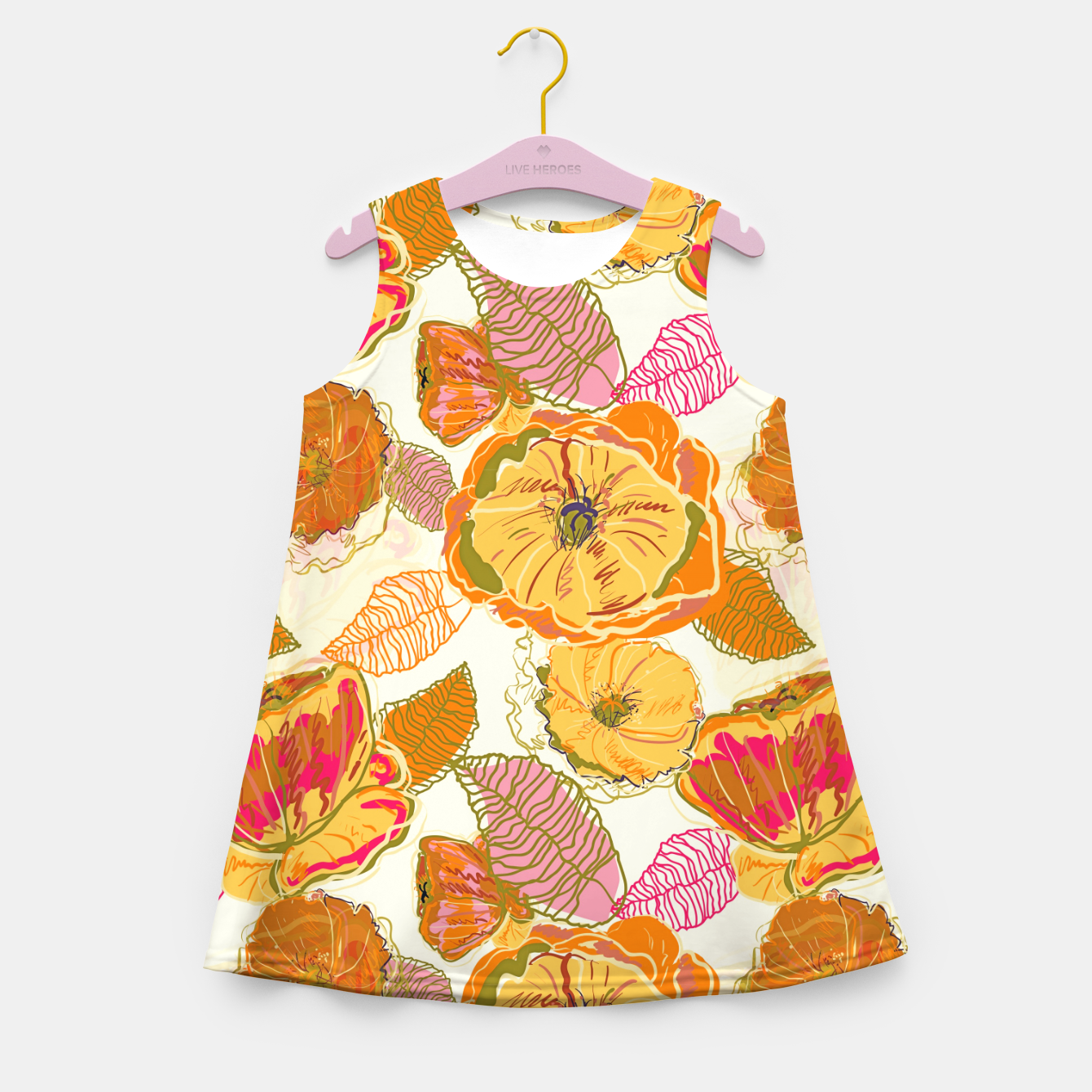 Image of Fall Floral Girl's summer dress - Live Heroes