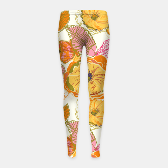 Thumbnail image of Fall Floral Girl's leggings, Live Heroes