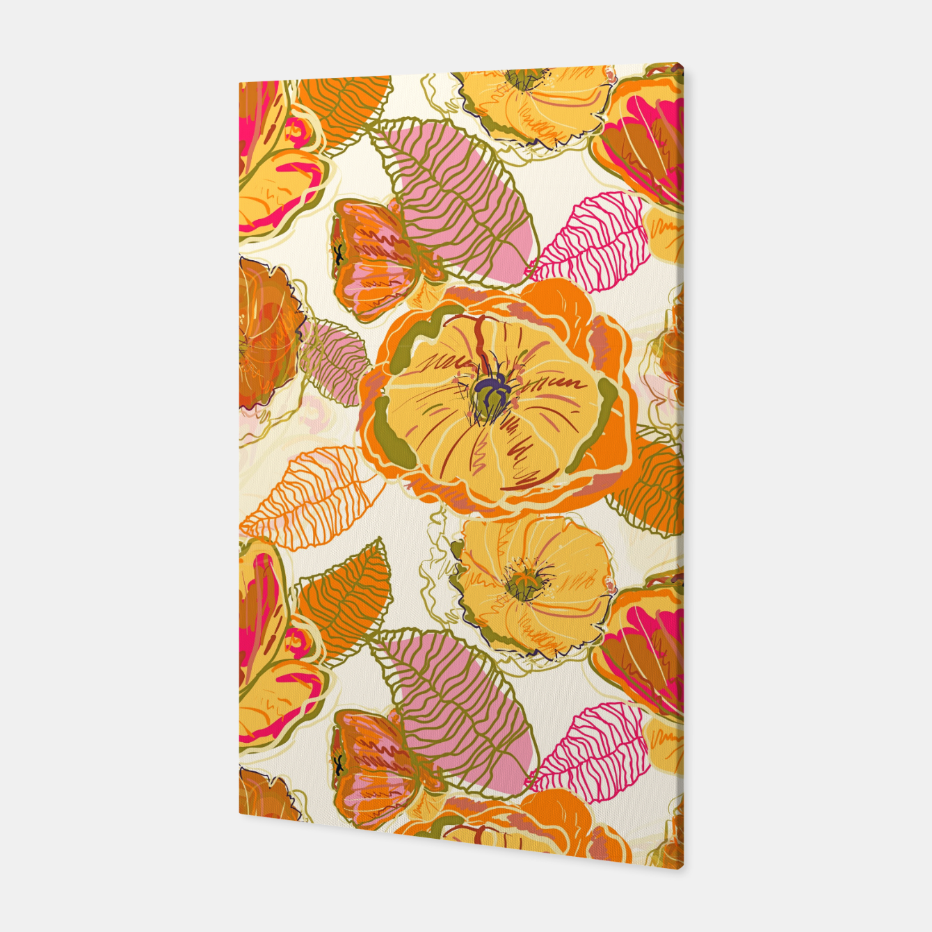 Image of Fall Floral Canvas - Live Heroes