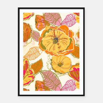 Thumbnail image of Fall Floral Framed poster, Live Heroes